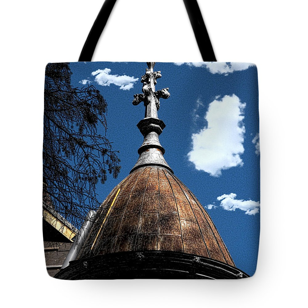 Mansion Tote Bag featuring the photograph 1860's Mansion I by Kristie Bonnewell
