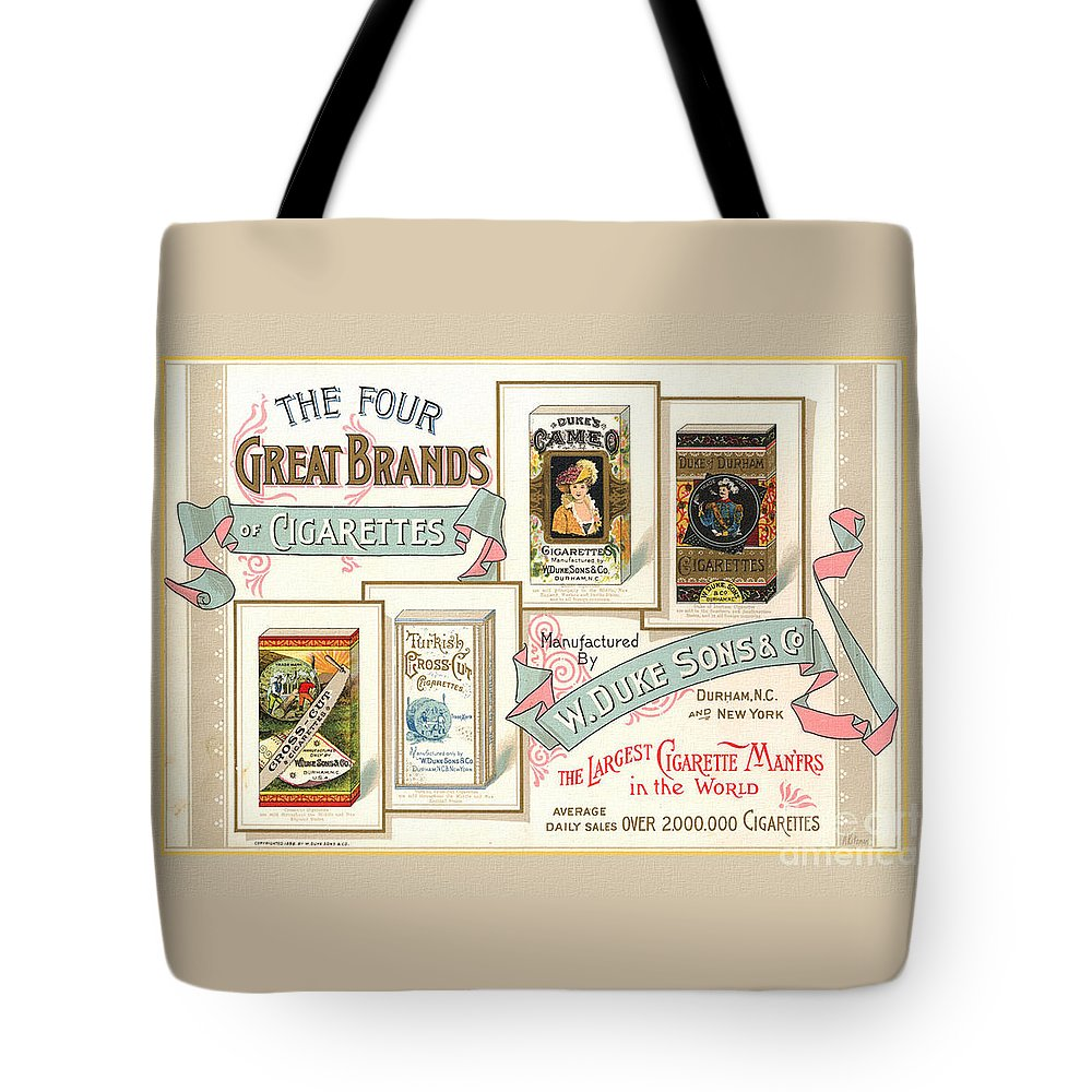 1889 W. Duke Sons Co Cigarettes Trading Card Tote Bag for Sale by ...