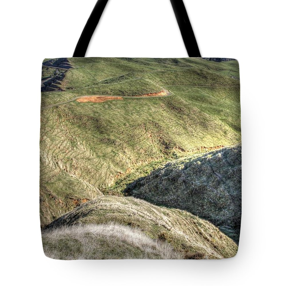 Countryside Tote Bag featuring the photograph Landscape by Les Cunliffe