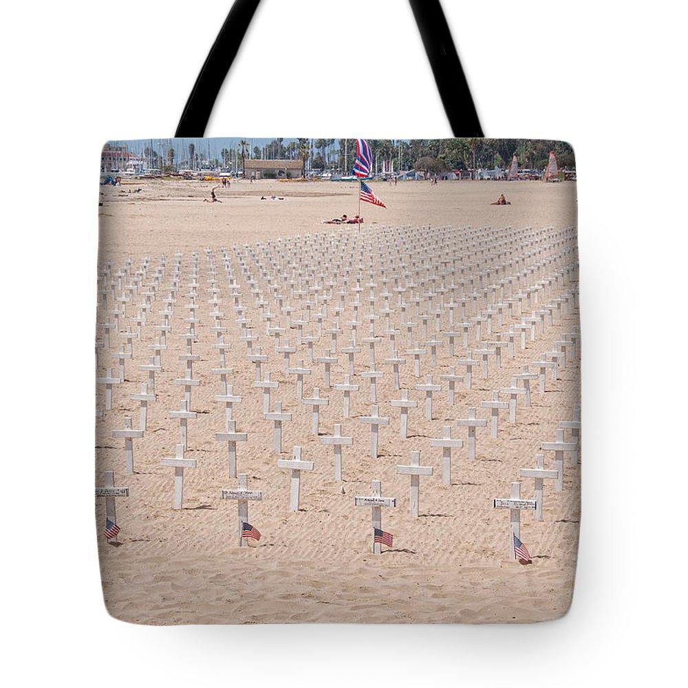 American Tote Bag featuring the digital art Santa Barbara by Carol Ailles