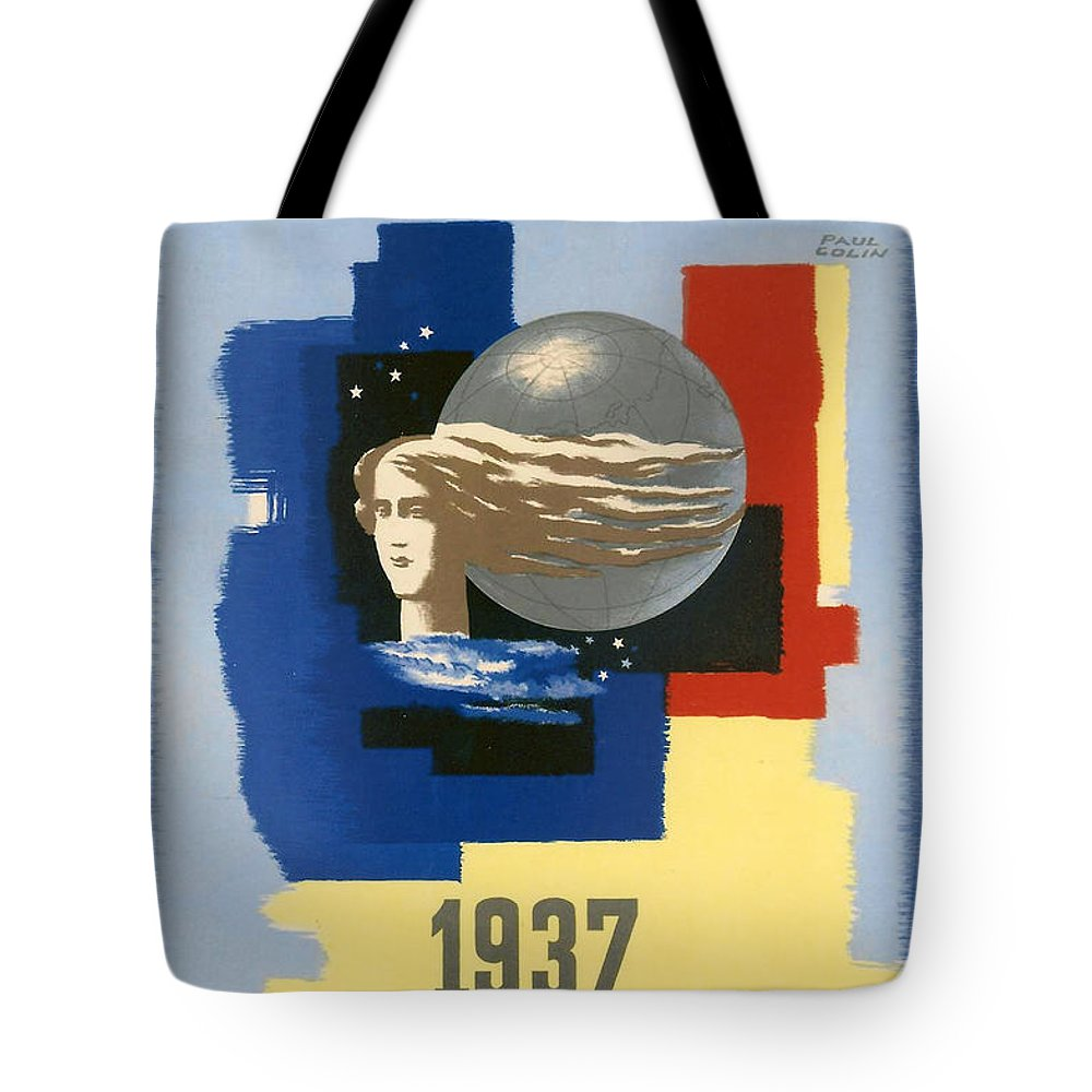 1937 Paris Exposition Tote Bag featuring the digital art 1937 Paris Exposition by Georgia Fowler