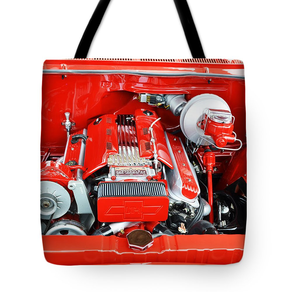 1962 Chevy Tote Bag featuring the photograph 1962 Chevy Make-over by Paul Mashburn