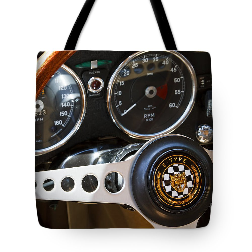 Classic Tote Bag featuring the photograph 1962 Jaguar by Dennis Hedberg