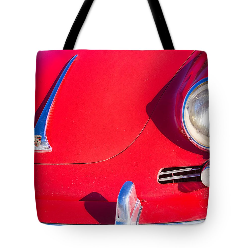 Automobiles Tote Bag featuring the photograph 1963 Red Porsche by James BO Insogna