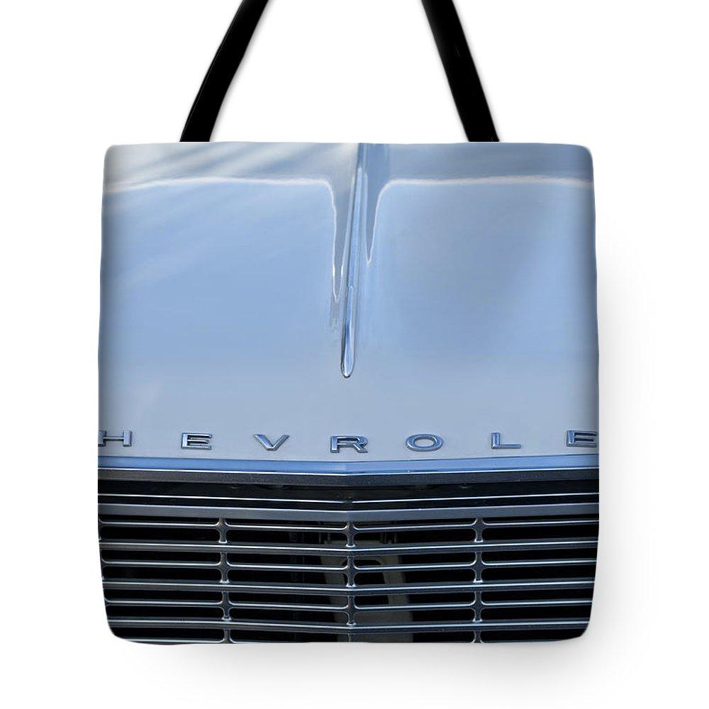 1964 Chevrolet El Camino Tote Bag featuring the photograph 1964 Chevrolet El Camino Grille by Jill Reger