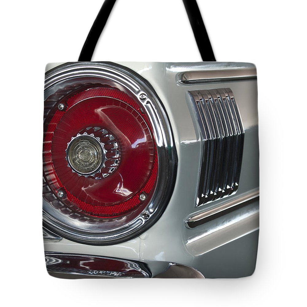 1964 Ford Falcon Sprint Convertible Taillight Tote Bag For Sale By Featuring The Photograph