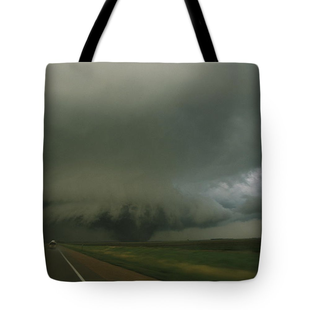 North America Tote Bag featuring the photograph A Massive F4 Category Tornado Rampages by Carsten Peter