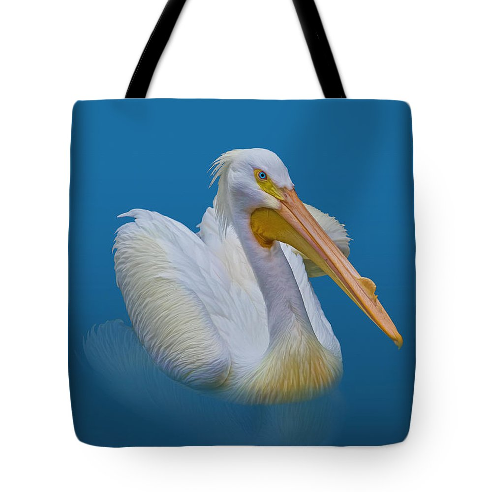 Pelicans Tote Bag featuring the photograph American White Pelican by Delores Knowles