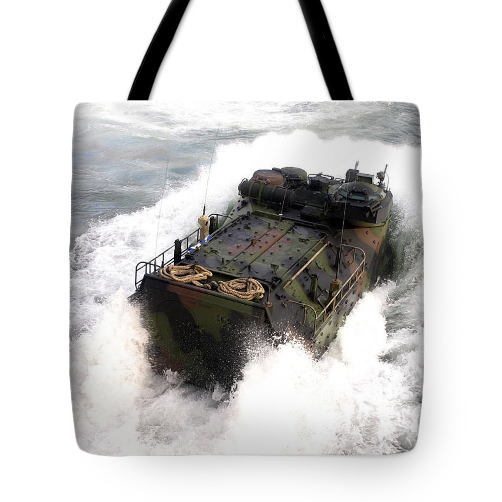 Aav Tote Bag featuring the photograph An Amphibious Assault Vehicle by Stocktrek Images