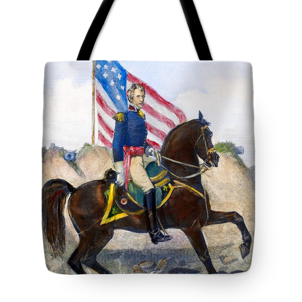 1815 Tote Bag featuring the photograph Andrew Jackson (1767-1845) by Granger