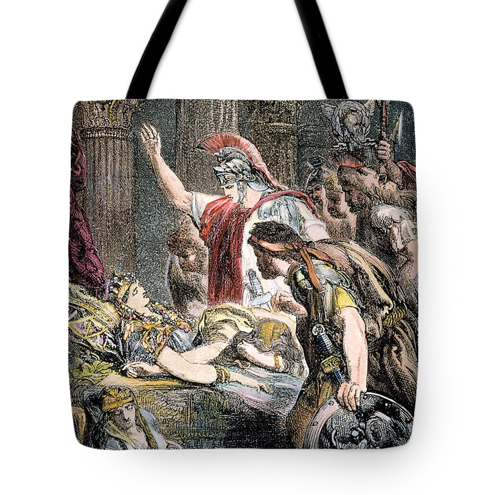 Ancient Tote Bag featuring the photograph Antony & Cleopatra by Granger
