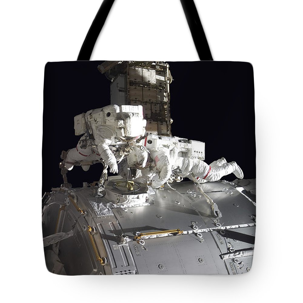 Adults Only Tote Bag featuring the photograph Astronauts Participate by Stocktrek Images