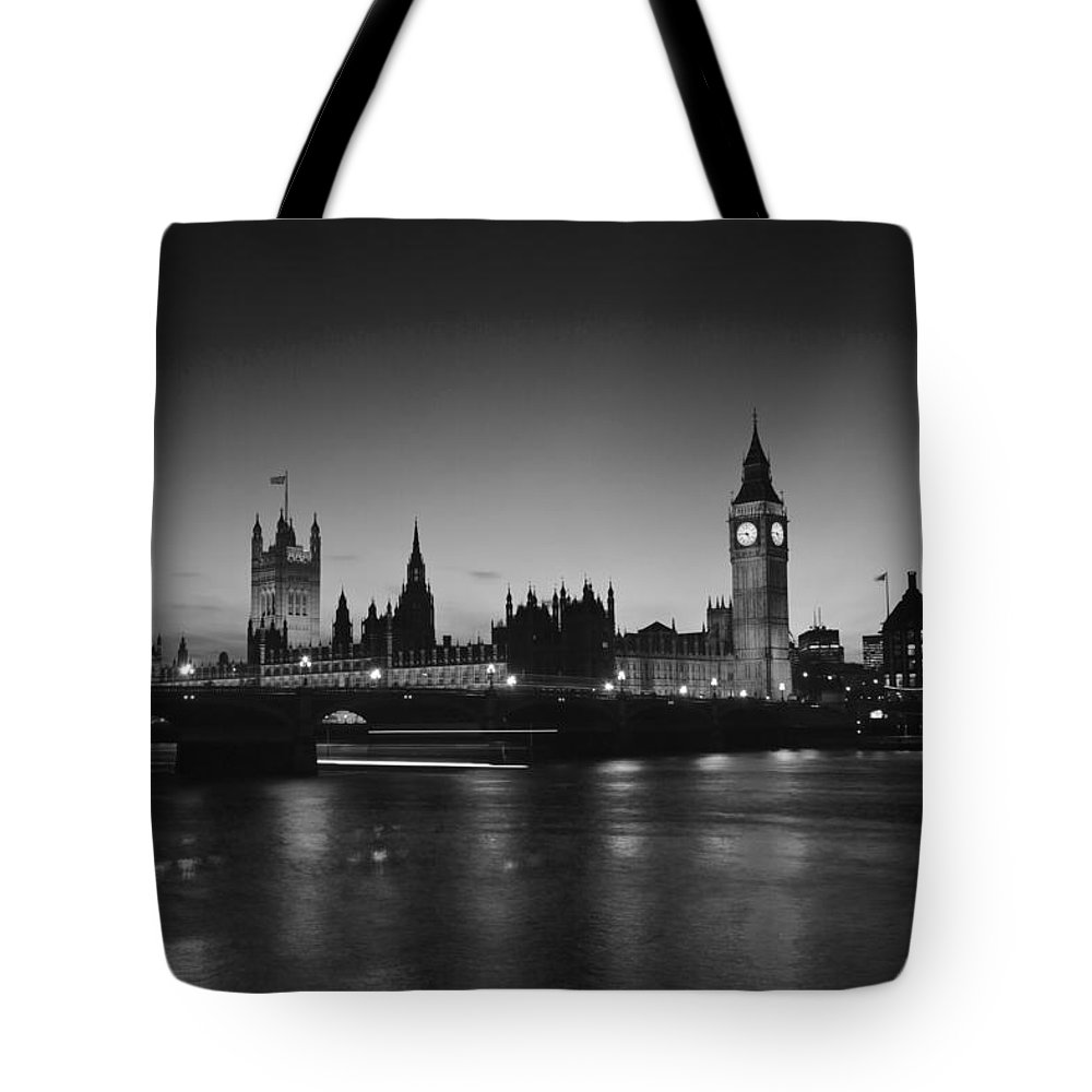 Westminster Tote Bag featuring the photograph Big Ben And The Houses Of Parliament by David French