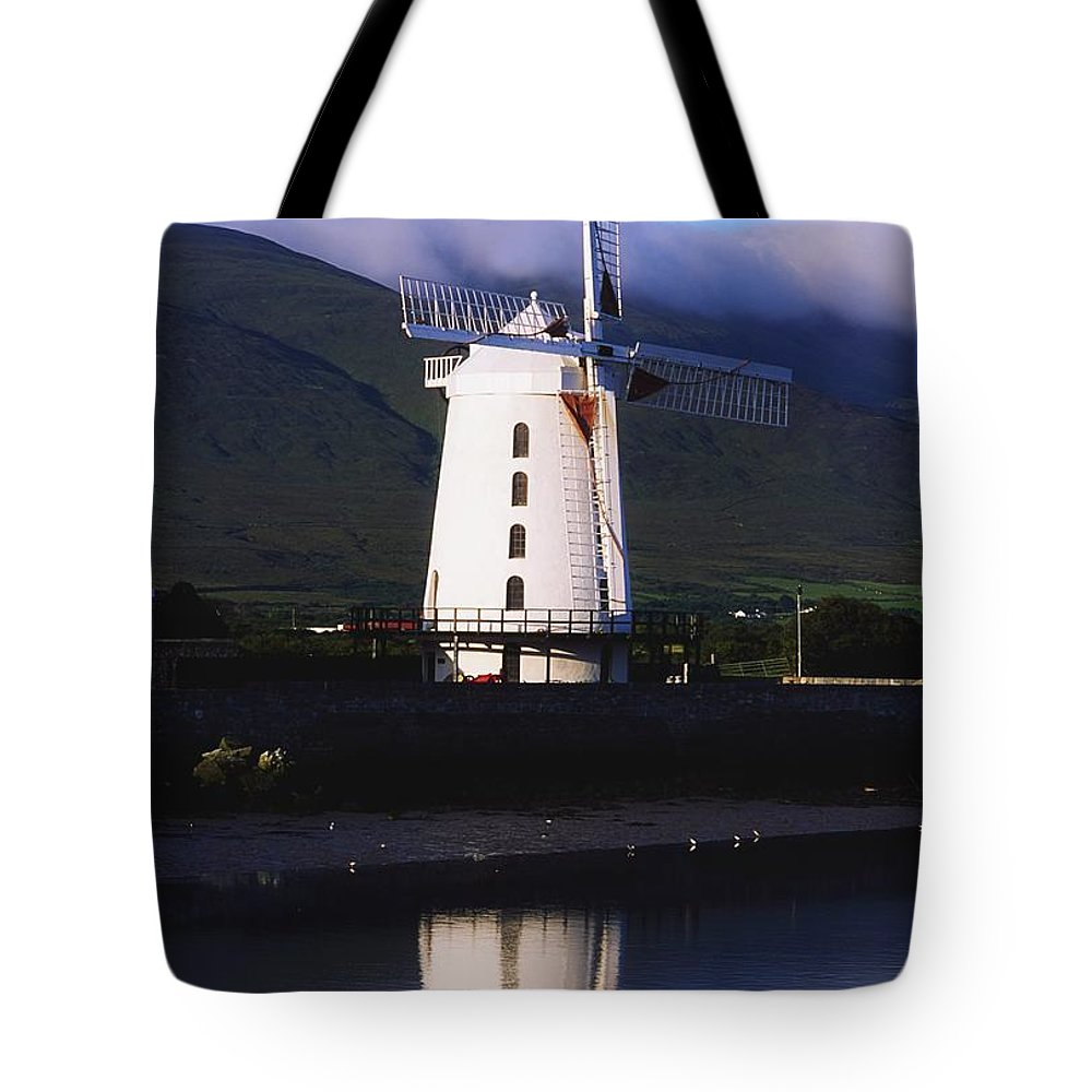 Blennerville Tote Bag featuring the photograph Blennerville Windmill, Tralee, Co by The Irish Image Collection