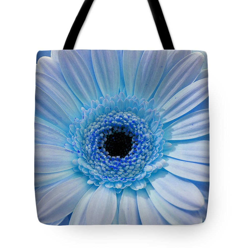Gerber Tote Bag featuring the photograph Cheeriest Blue by JAMART Photography