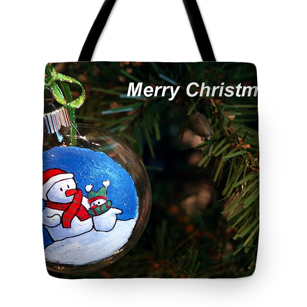 Christmas Tote Bag featuring the photograph Christmas Card by LeeAnn McLaneGoetz McLaneGoetzStudioLLCcom