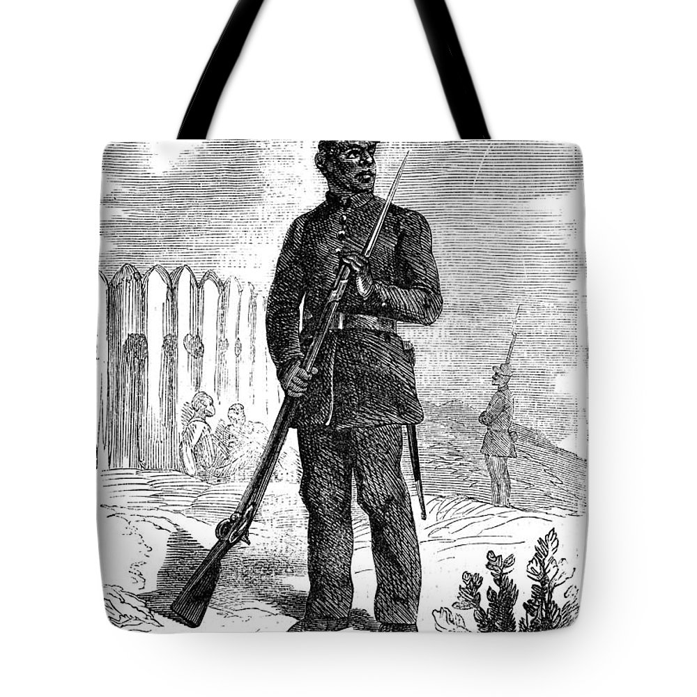 1864 Tote Bag featuring the photograph Civil War: Black Troops by Granger