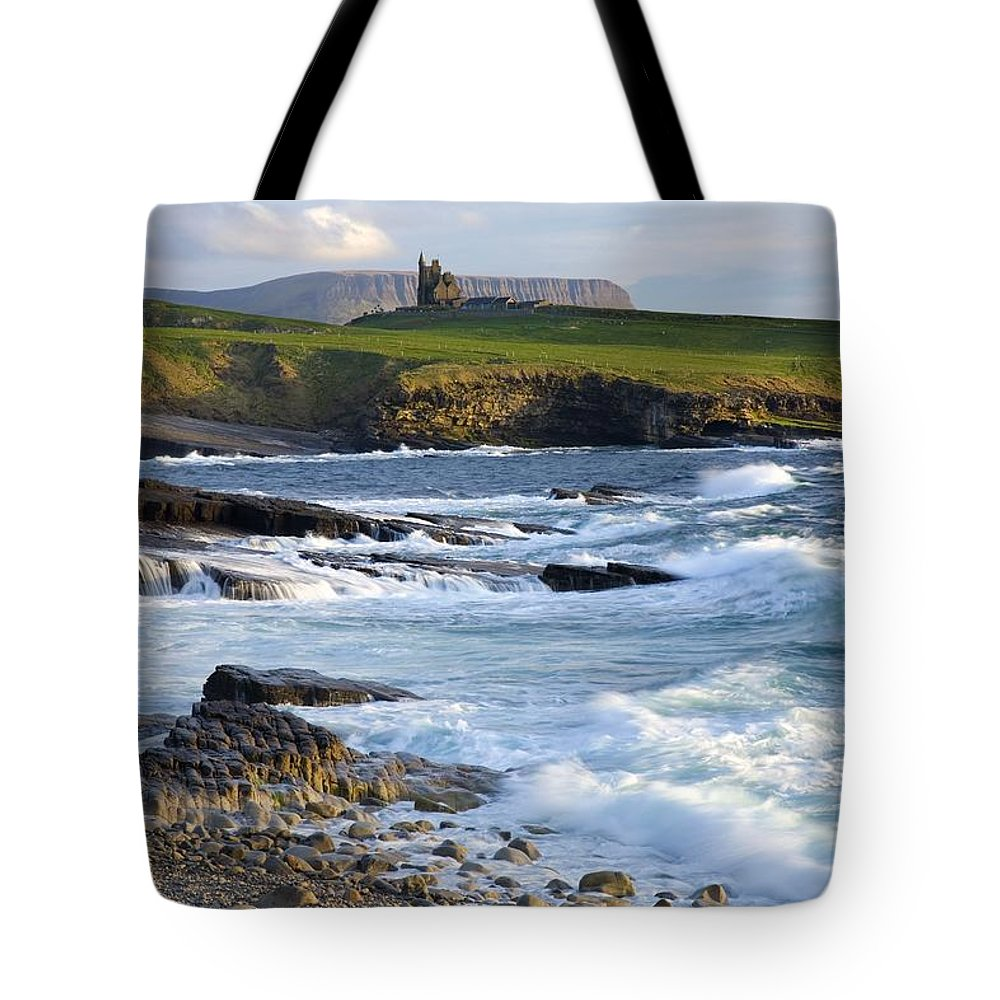 Outdoors Tote Bag featuring the photograph Classiebawn Castle, Mullaghmore, Co by Gareth McCormack