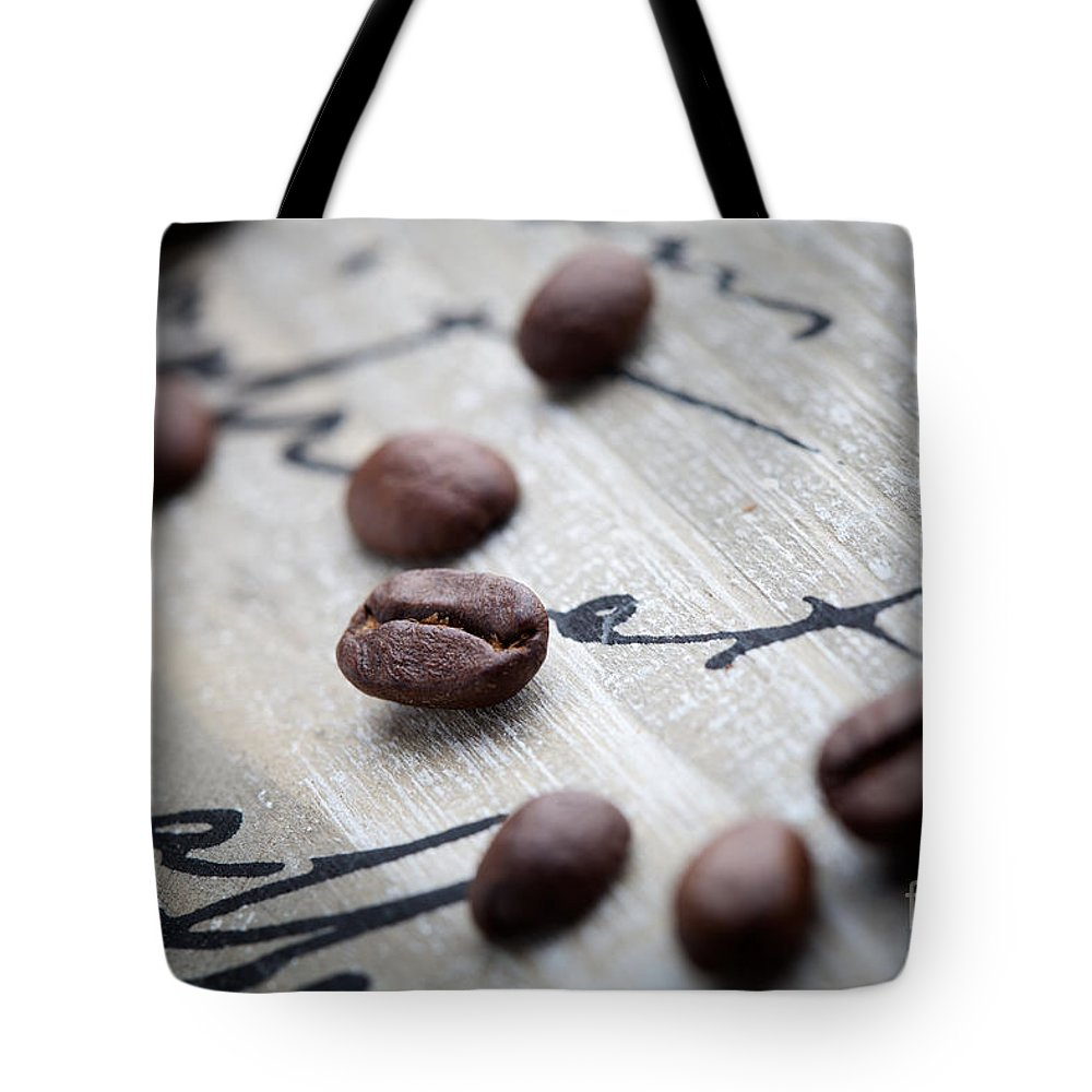 Agriculture Tote Bag featuring the photograph Coffee Beans by Kati Finell
