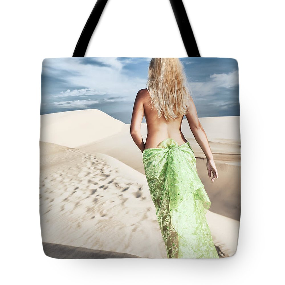 Woman Tote Bag featuring the photograph Desert Woman by MotHaiBaPhoto Prints