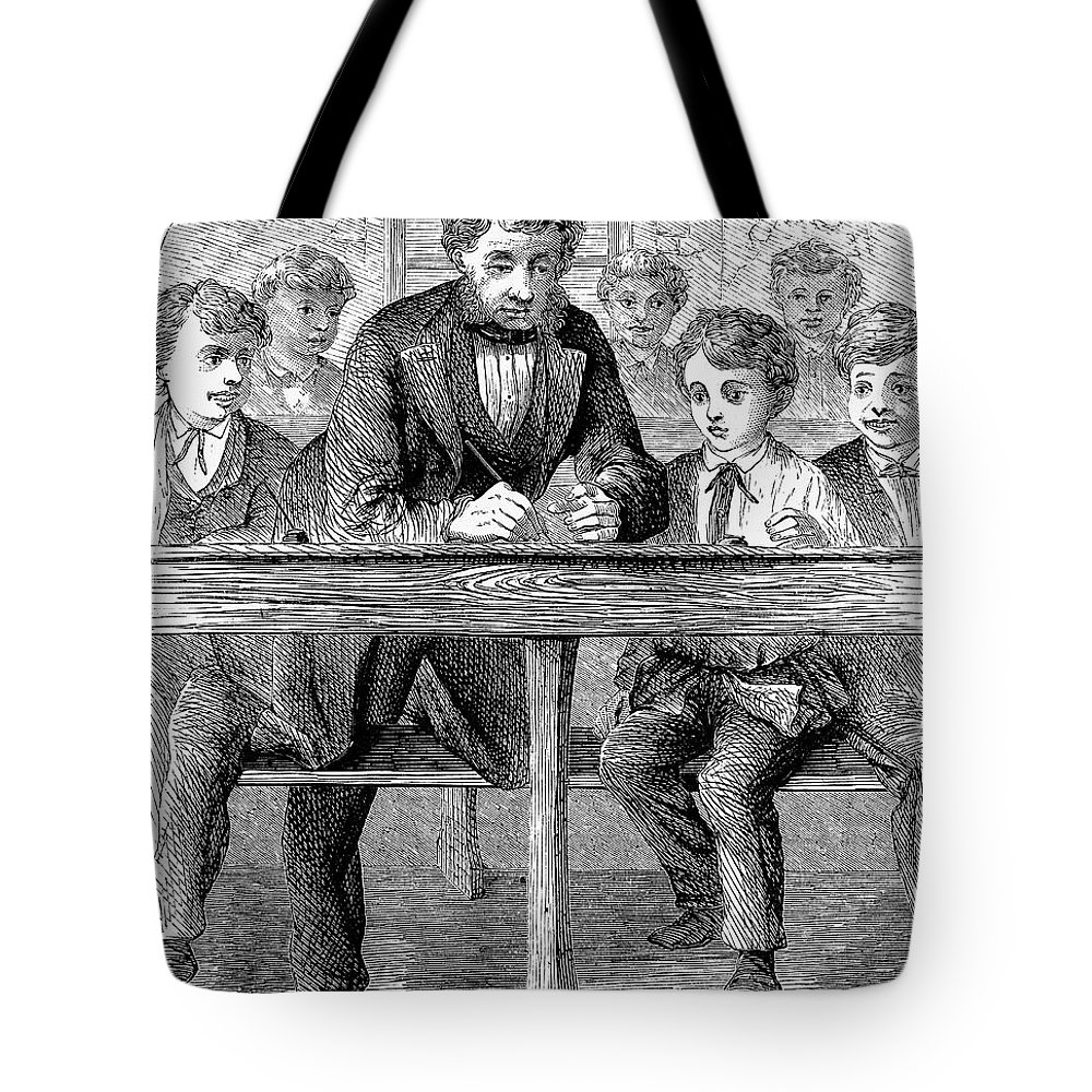 19th Century Tote Bag featuring the photograph Elementary School by Granger
