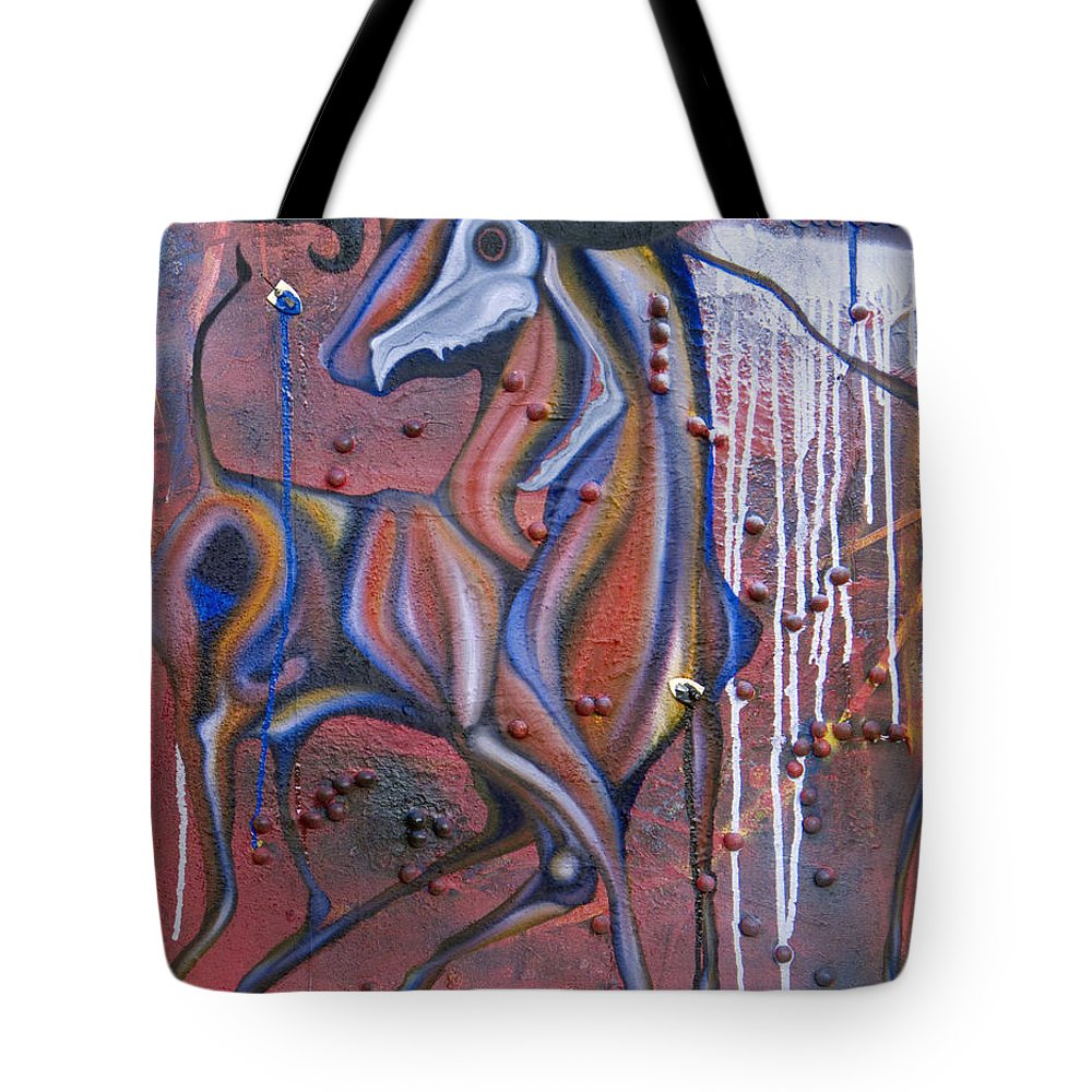 Oil Tote Bag featuring the painting False Flags II by Sheridan Furrer