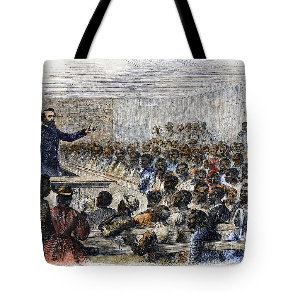 1866 Tote Bag featuring the photograph Freedmens Village, 1866 by Granger
