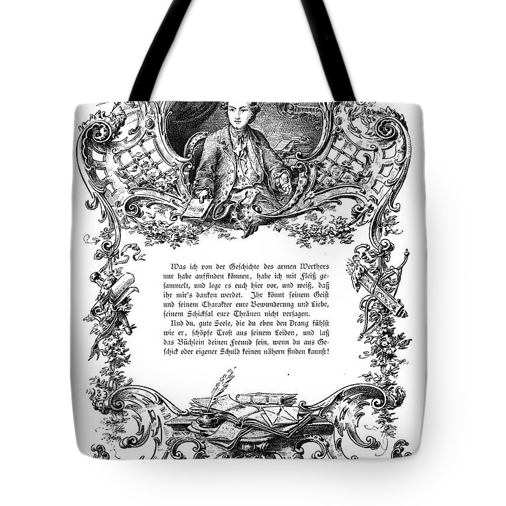 18th Century Tote Bag featuring the photograph Goethe: Werther by Granger