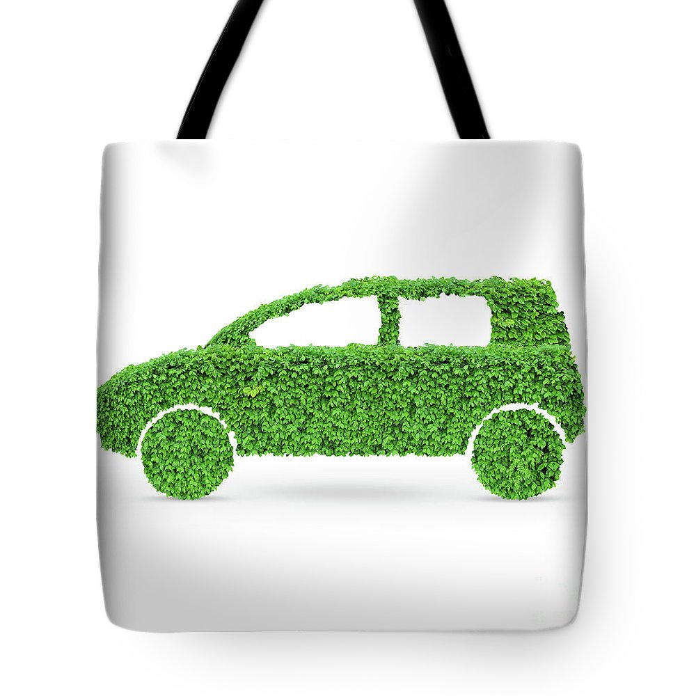 Green Car Tote Bag featuring the photograph Green Car by Oleksiy Maksymenko