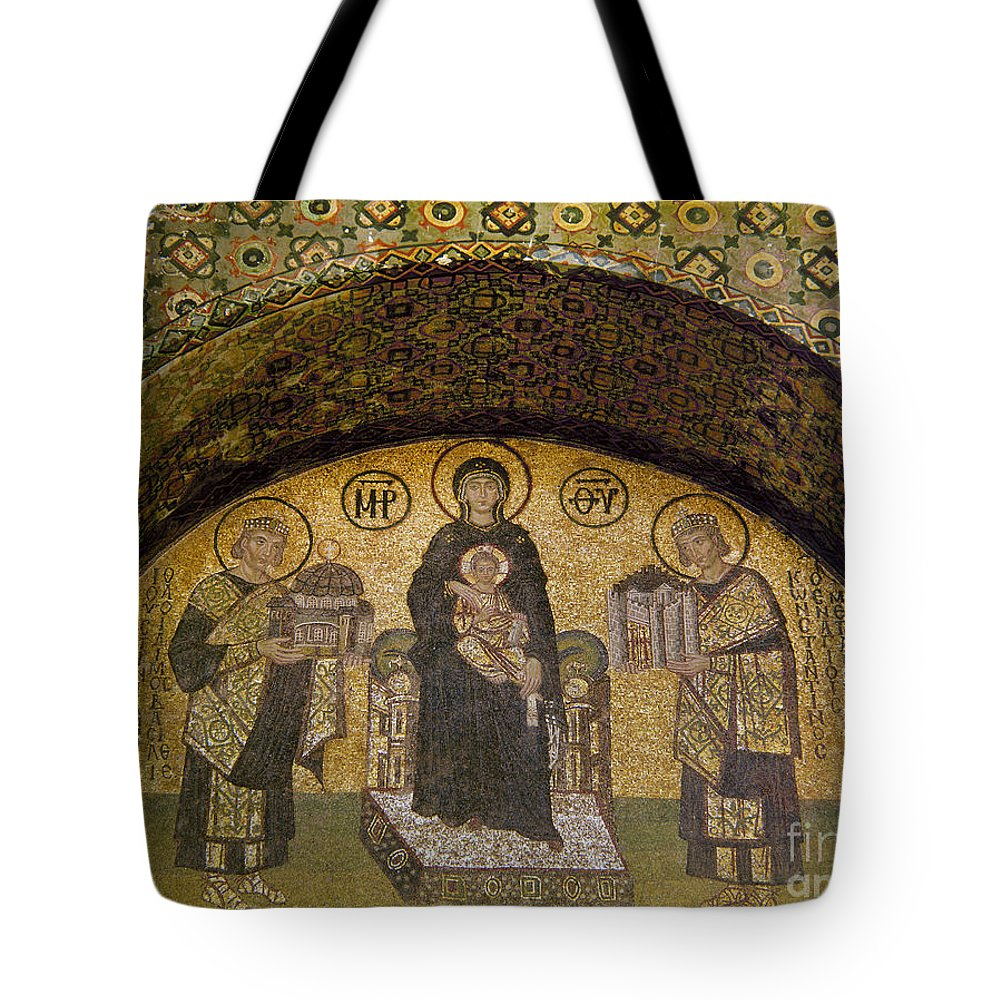 6th Century Tote Bag featuring the photograph Hagia Sophia: Mosaic by Granger