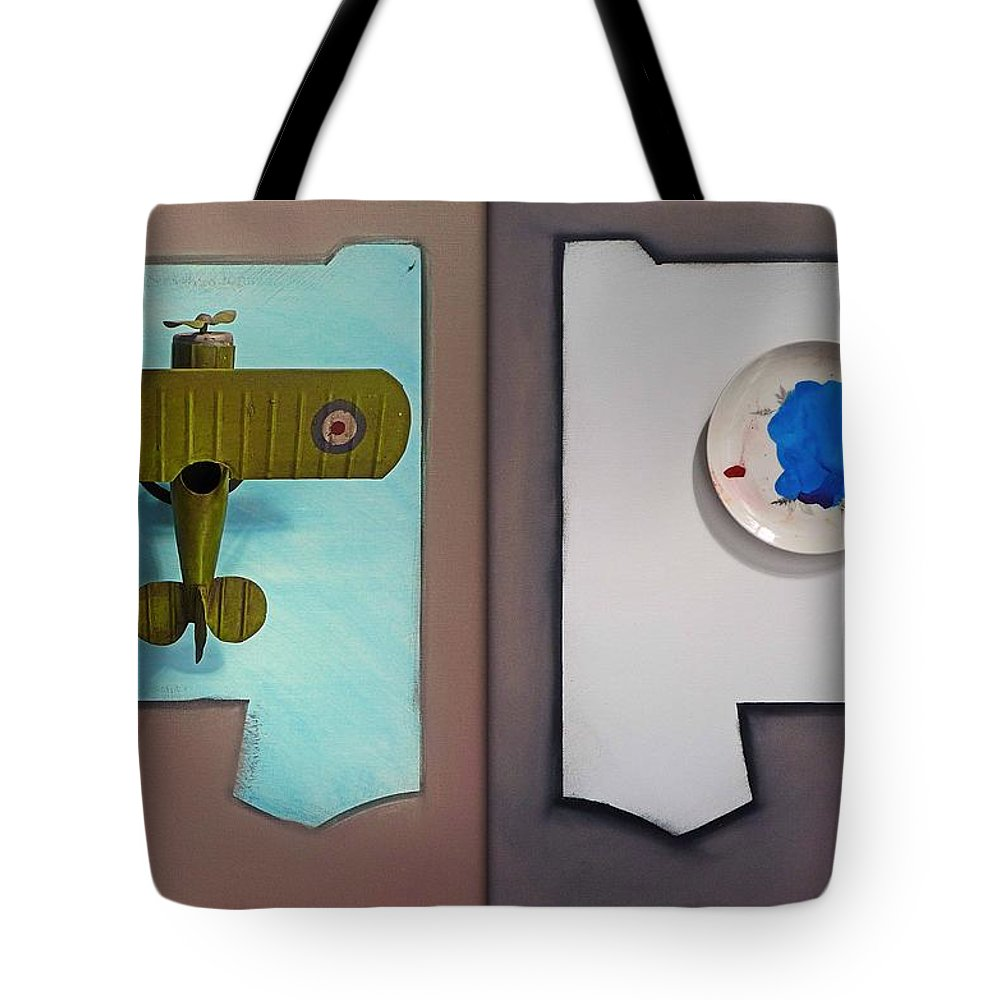 Kite Tote Bag featuring the painting Kite by Charles Stuart