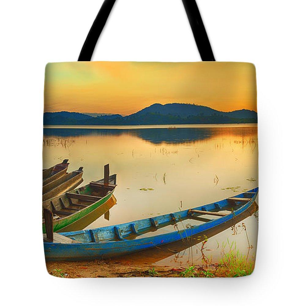 Beautiful Tote Bag featuring the photograph Lak Lake by MotHaiBaPhoto Prints