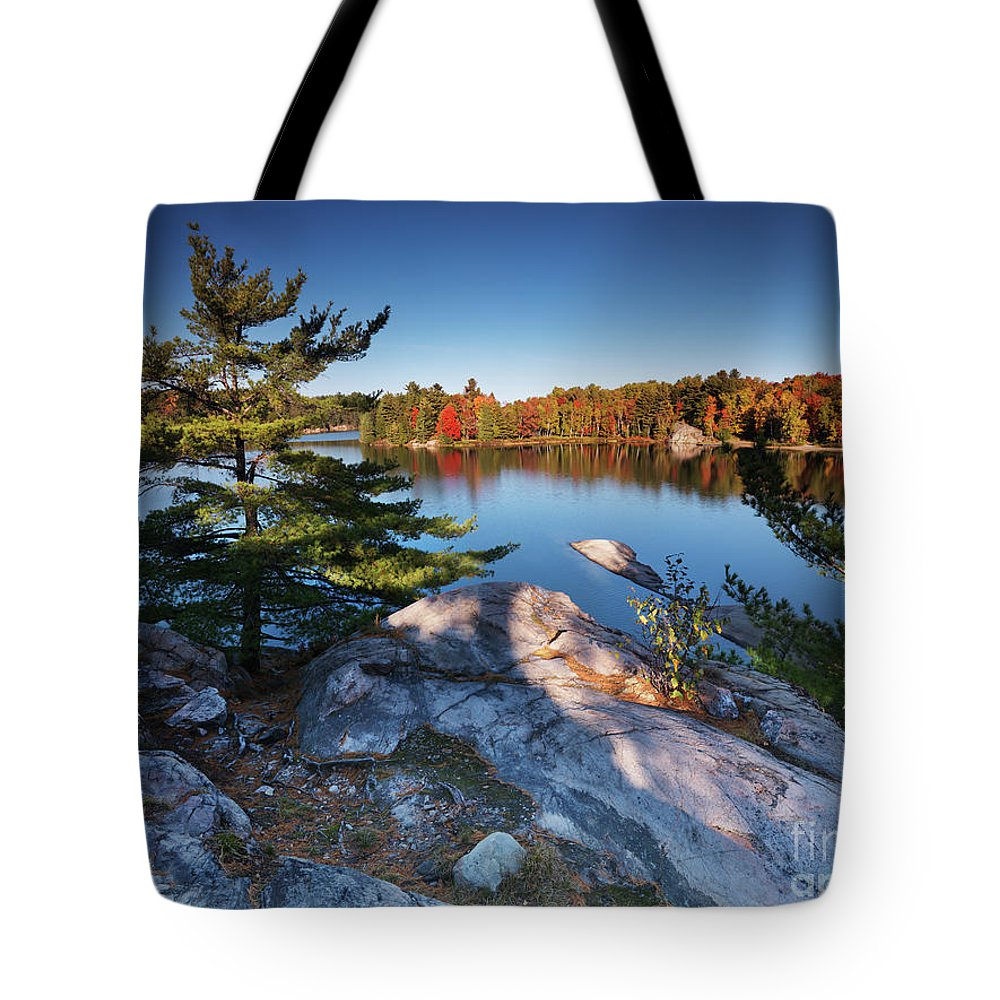 Lake Tote Bag featuring the photograph Lake George At Killarney Provincial Park In Fall by Oleksiy Maksymenko