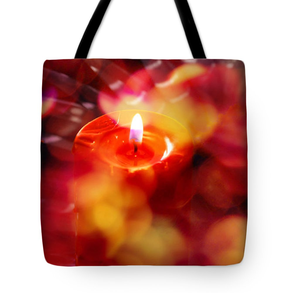 Candles Tote Bag featuring the photograph Merry Christmas by Susanne Van Hulst