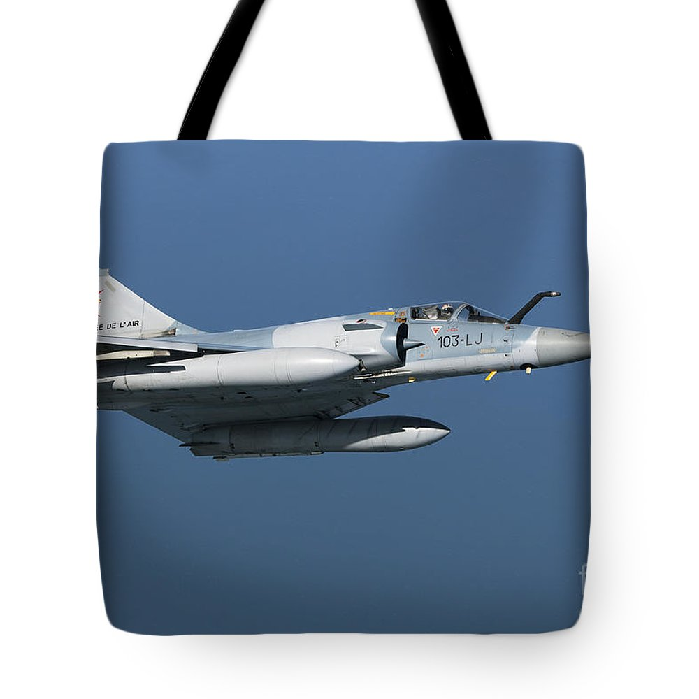 Transportation Tote Bag featuring the photograph Mirage 2000c Of The French Air Force by Gert Kromhout
