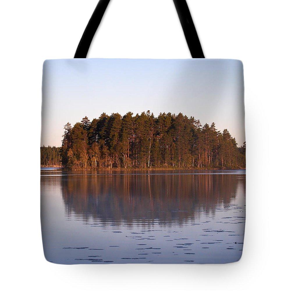 Haukkajarvi Tote Bag featuring the photograph Morning Mist At Haukkajarvi by Jouko Lehto