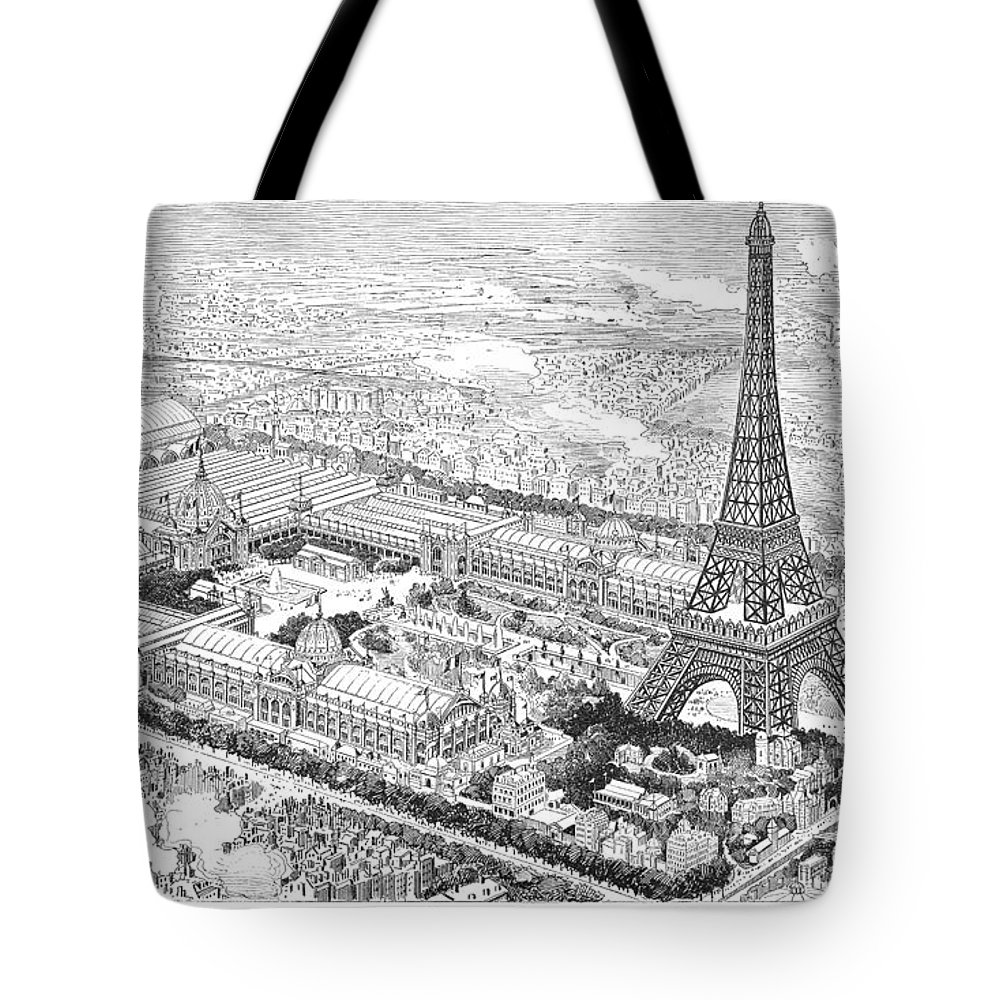 1889 Tote Bag featuring the photograph Paris Exposition, 1889 by Granger