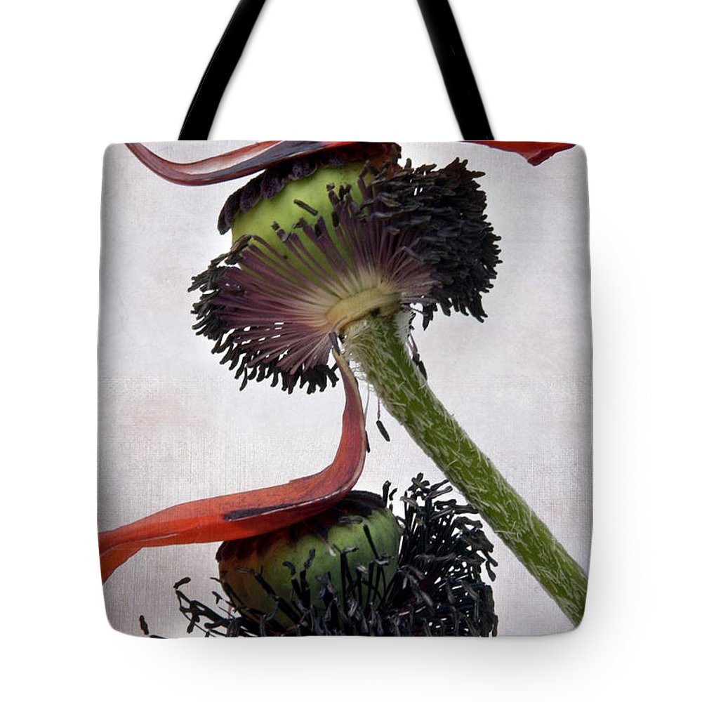 Bouquet Tote Bag featuring the photograph Poppies by Bernard Jaubert