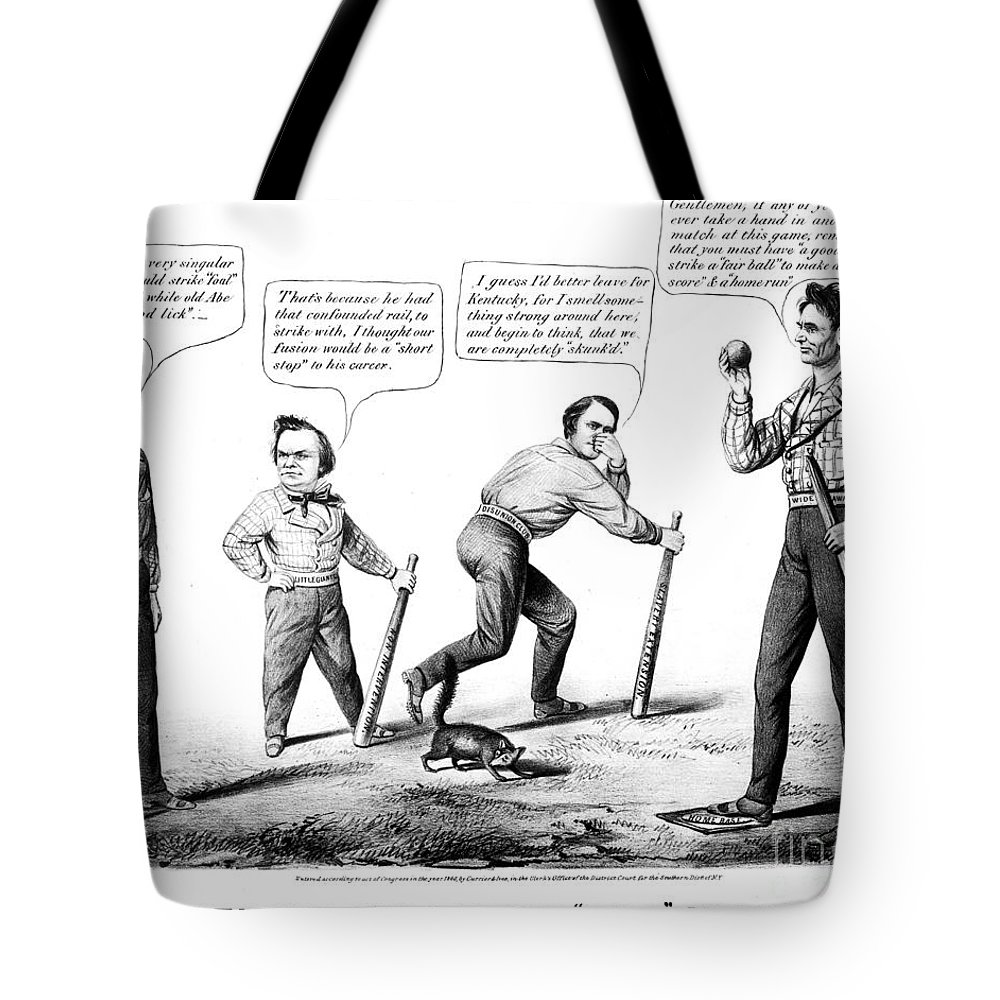 1860 Tote Bag featuring the photograph Presidential Campaign, 1860 by Granger
