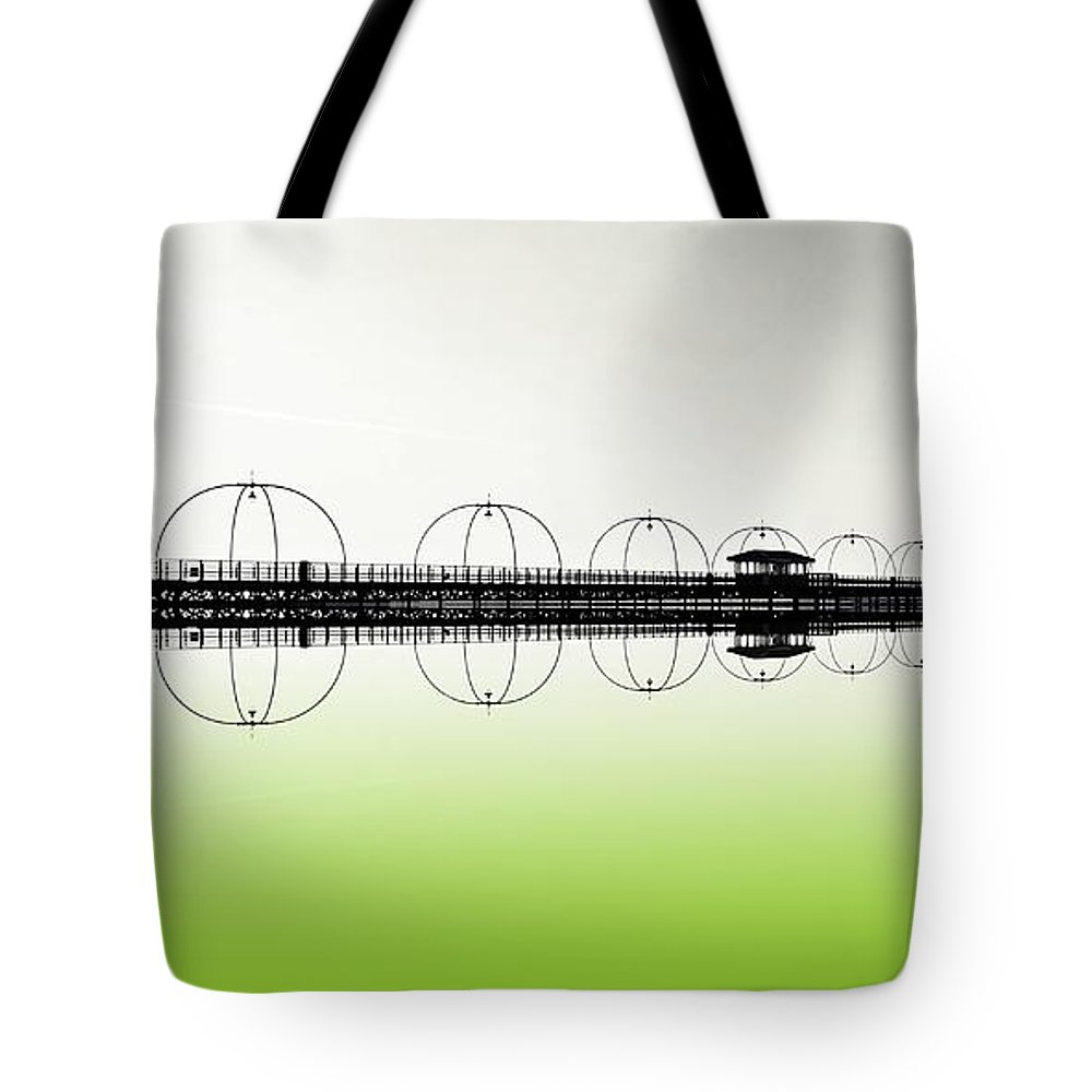 Southport Tote Bag featuring the photograph Southport Pier Reflections by David French