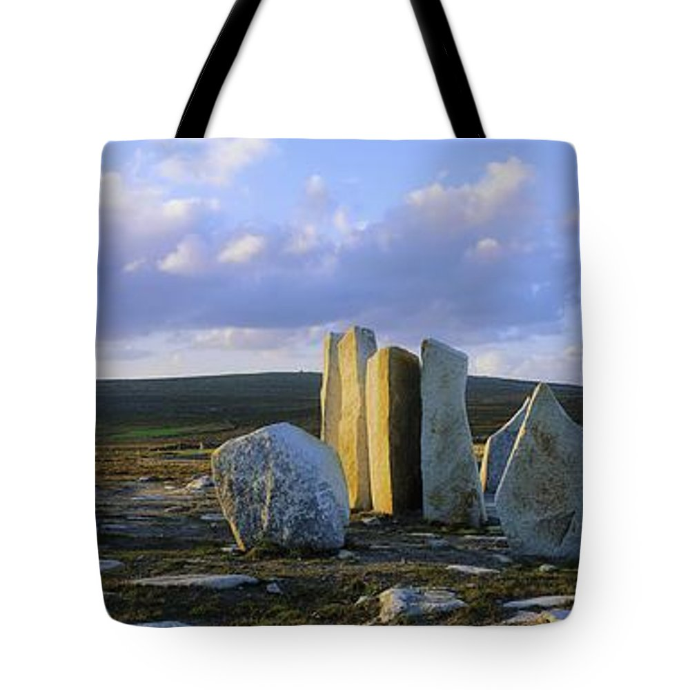Blacksod Tote Bag featuring the photograph Standing Stones, Blacksod Point, Co by The Irish Image Collection