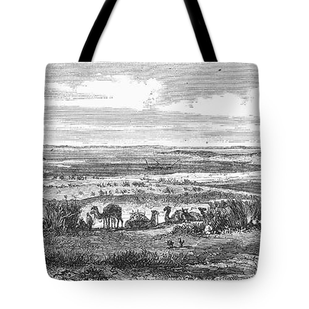 1869 Tote Bag featuring the photograph Suez Canal, 1869 by Granger