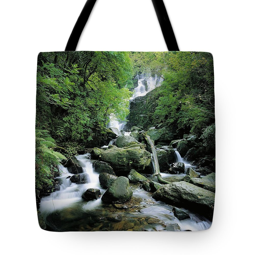 Blurred Motion Tote Bag featuring the photograph Torc Waterfall, Killarney, Co Kerry by The Irish Image Collection
