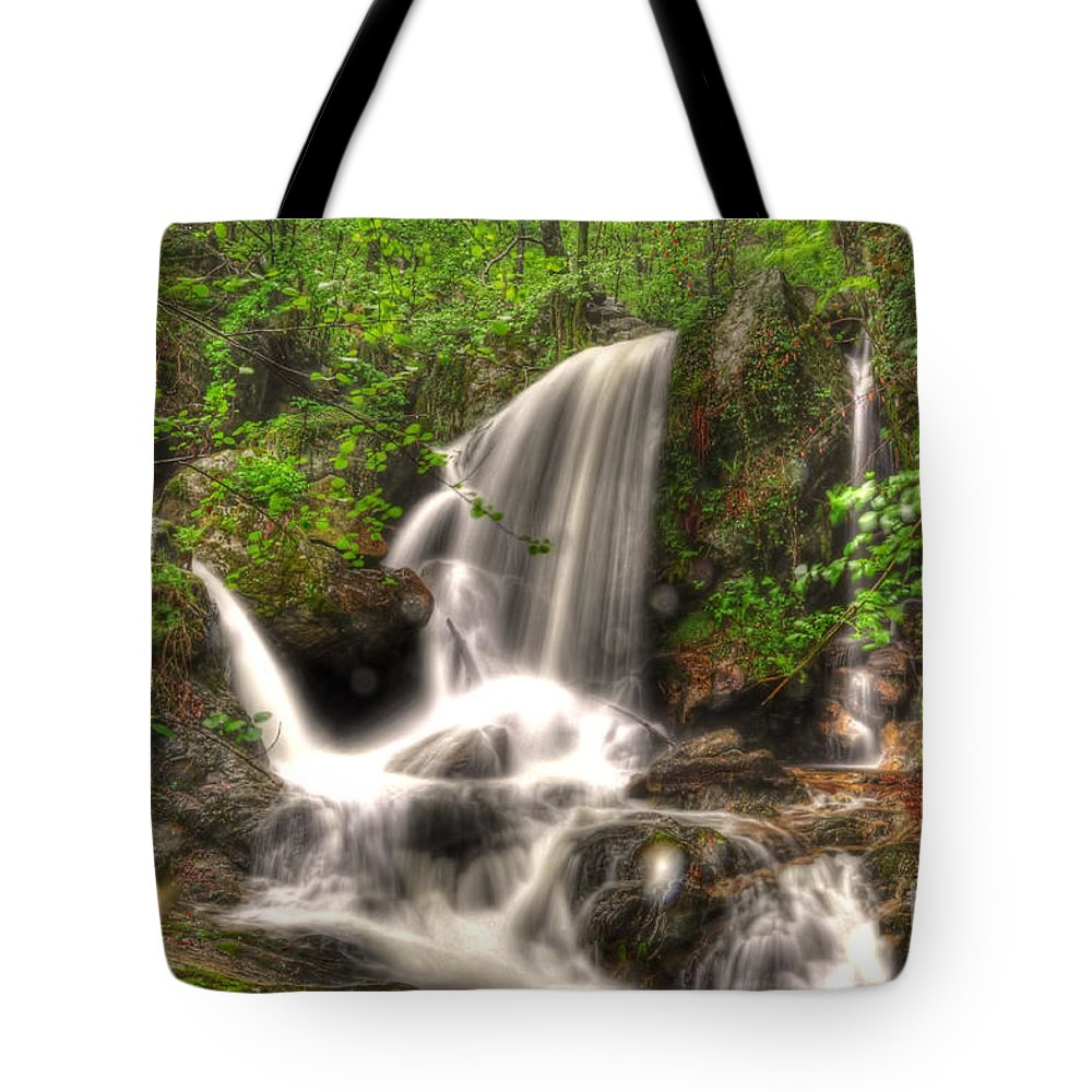 Water Tote Bag featuring the photograph Water Fall by Mats Silvan