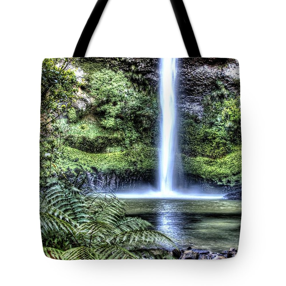 Cascade Tote Bag featuring the photograph Waterfall by Les Cunliffe