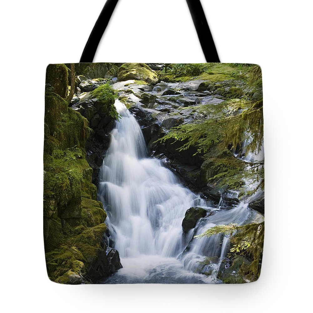 Mp Tote Bag featuring the photograph Waterfalls Of Sol Duc River, Olympic by Konrad Wothe