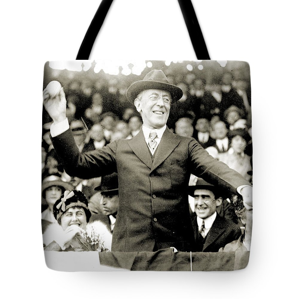 1916 Tote Bag featuring the photograph Woodrow Wilson (1856-1924) by Granger