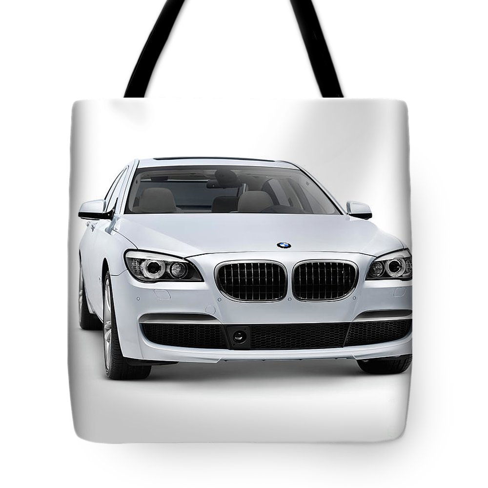 Luxury Car Tote Bag featuring the photograph 2010 Bmw 760li Individual Luxury Sedan by Oleksiy Maksymenko