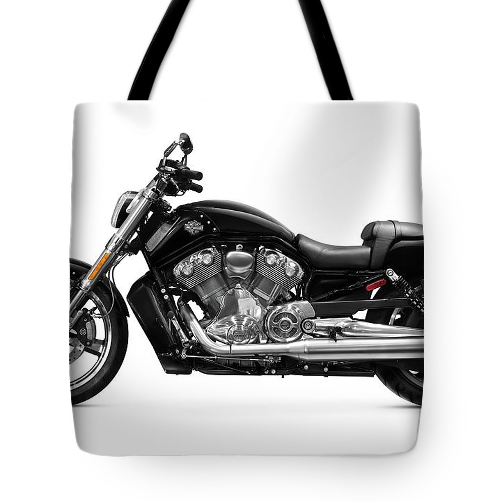 Motorcycle Tote Bag featuring the photograph 2010 Harley-davidson Vrsc V-rod Muscle by Oleksiy Maksymenko