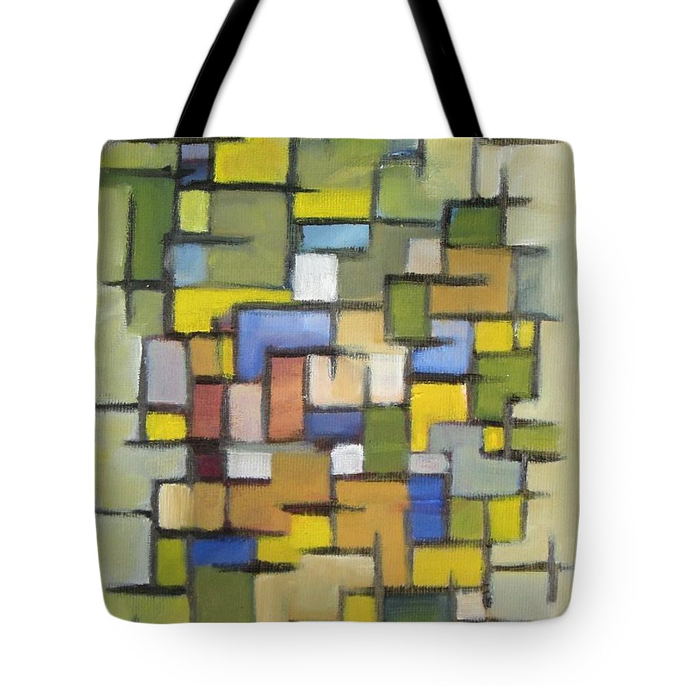 Abstract Tote Bag featuring the painting 2012 Abstract Line Series Xx by Patricia Cleasby